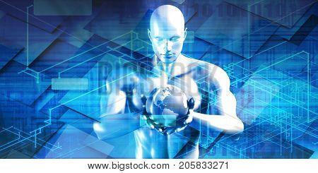 Industry Trends or Business Trending of Data 3D Illustration Render