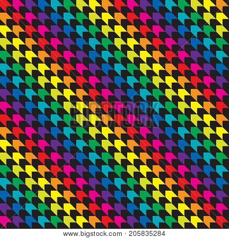 Seamless abstract colourful geometric wrapping paper background. Ideal for birthday gift wrap wrapping paper.