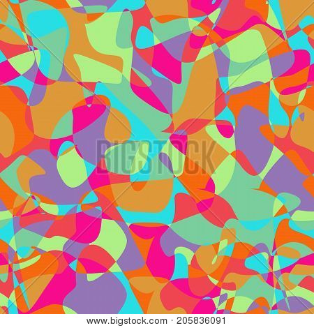 Overlapping and Divided Shapes Seamless Pattern. Repeating background