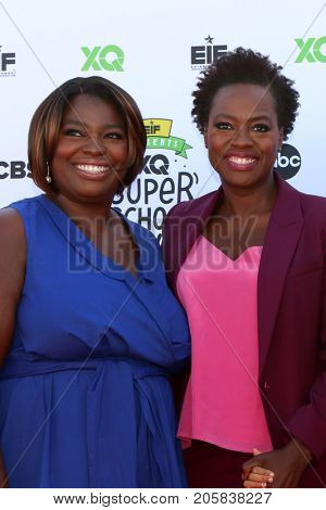 LOS ANGELES - SEP 8:  Deloris Davis Grant, Viola Davis at the EIF Presents: XQ Super School Live at the Barker Hanger on September 8, 2017 in Santa Monica, CA