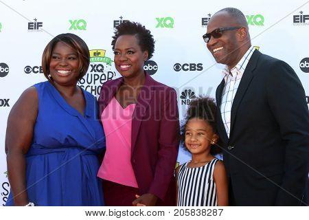 LOS ANGELES - SEP 8:  Deloris Davis Grant, Viola Davis, Genesis Tennon, Julius Tennon at the EIF Presents: XQ Super School Live at the Barker Hanger on September 8, 2017 in Santa Monica, CA