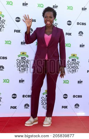 LOS ANGELES - SEP 8:  Viola Davis at the EIF Presents: XQ Super School Live at the Barker Hanger on September 8, 2017 in Santa Monica, CA