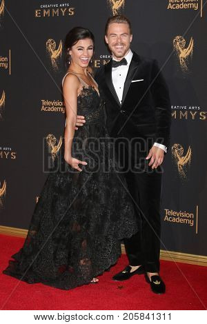 LOS ANGELES - SEP 9:  Derek Hough, Hayley Erbert at the 2017 Creative Emmy Awards at the Microsoft Theater on September 9, 2017 in Los Angeles, CA