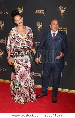 LOS ANGELES - SEP 9:  Rachel Montez Minor, Ricky Minor at the 2017 Creative Emmy Awards at the Microsoft Theater on September 9, 2017 in Los Angeles, CA