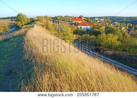 Ancient earthworks. Located in the south of Kiev. Ukraine