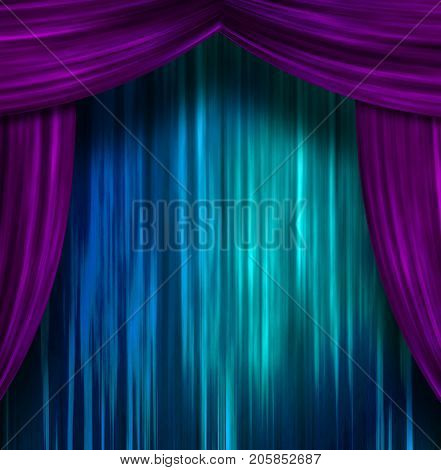 Theater Curtains  3D rendering