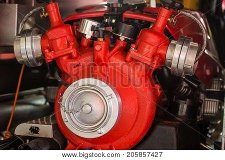 Inside of a fire truck - firefighter accessory