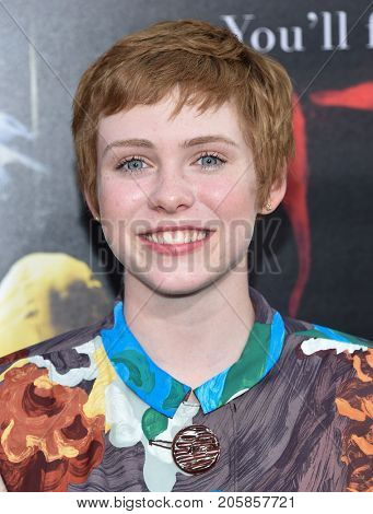 LOS ANGELES - SEP 05:  Sophia Lillis arrives for the 'IT' World Premiere on September 5, 2017 in Hollywood, CA