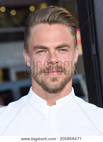 LOS ANGELES - SEP 05:  Derek Hough arrives for the 'IT' World Premiere on September 5, 2017 in Hollywood, CA