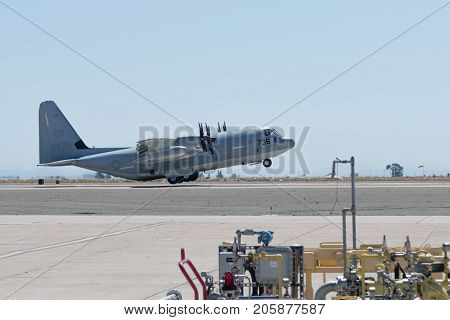 Kc-130 Hercules Performing At The Miramar Air Show