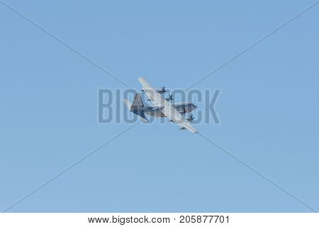 Kc-130 Hercules Performing At The Miramar Air Show