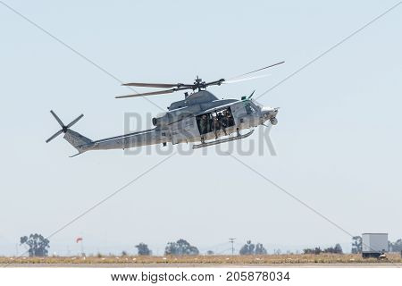 Uh-1Y Venom Attack Helicopter Performing At The Miramar Air Show