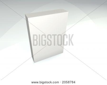 White box in light (3d render art) poster