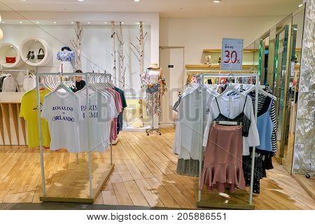 BUSAN, SOUTH KOREA - MAY 28, 2017: TWEE store at Lotte Department Store