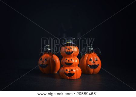 Halloween pumpkins jack-o-lantern on dark background. Halloween pumpkin background. Halloween. jack-o-lantern. Halloween jack-o-lantern. Happy Halloween.
