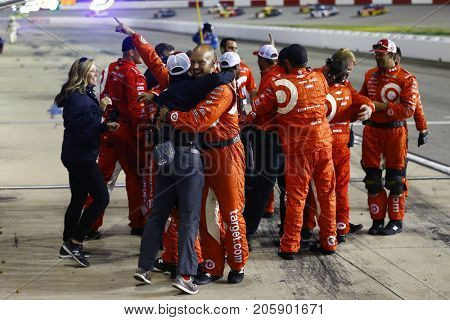 September 09, 2017 - Richmond, Virginia, USA: Kyle Larson (42) wins the Federated Auto Parts 400 at Richmond Raceway in Richmond, Virginia.