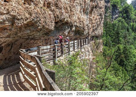 panoramic route to Sanctuary of San Romedio trentino alto adige italy
