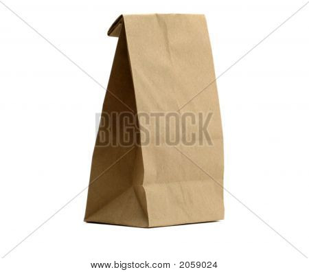 Lunch Bag With Clipping Path