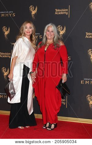 LOS ANGELES - SEP 10:  Allyson Fanger, Marta Kauffman at the 2017 Creative Emmy Awards Arrivals - Sunday at the Microsoft Theater on September 10, 2017 in Los Angeles, CA