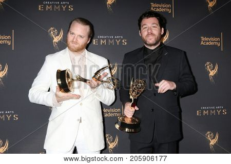 LOS ANGELES - SEP 9:  Michael Stein, Kyle Dixon at the 2017 Creative Emmy Awards at the Microsoft Theater on September 9, 2017 in Los Angeles, CA