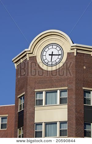 Clock in downtown of Wausau Wisconsin, USA poster