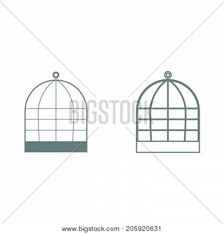 Iron Cage It Is Black Icon .