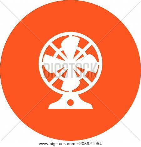 Fan, electric, wind icon vector image. Can also be used for Climatic Equipment. Suitable for mobile apps, web apps and print media.
