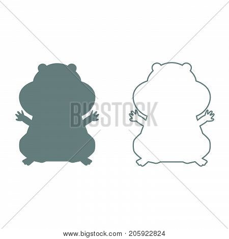Hamster Silhouette It Is Black Icon .