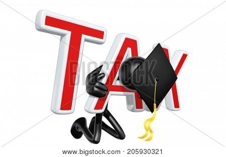The Original 3D Character Graduate Illustration Trapped In A Tax Yoke