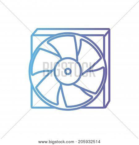 line technology hard drive fan processor vector illustration