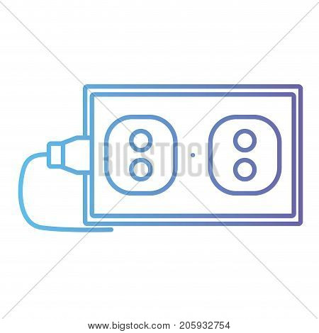 line electric plug power technology connect vector illustration
