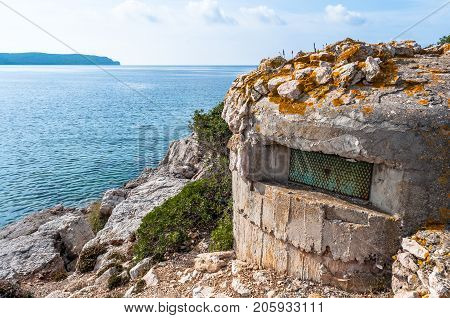 World War Two Bunker On The Coast