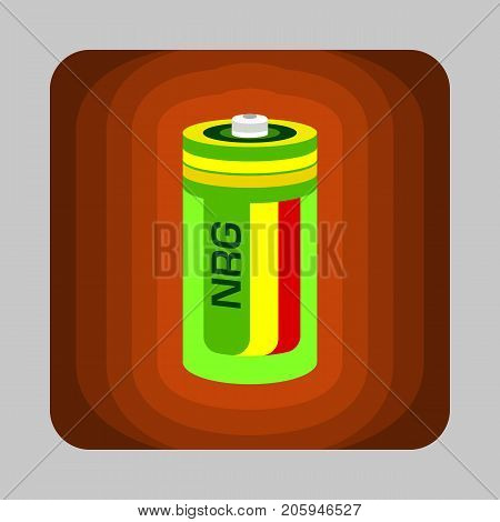 Battery energy concept background. Cartoon illustration of battery energy vector concept background for web design