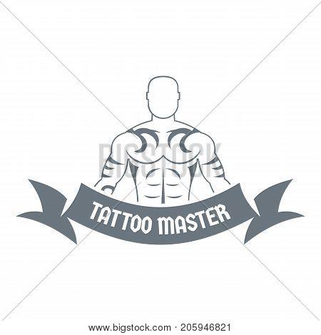 Tattoo master logo. Simple illustration of tattoo master vector logo for web