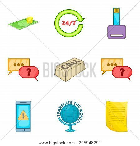 Reply icons set. Cartoon set of 9 reply vector icons for web isolated on white background