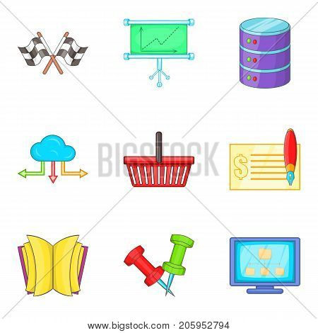 Validity icons set. Cartoon set of 9 validity vector icons for web isolated on white background