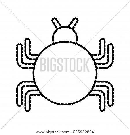 bug sign icon virus symbol software error disinfection vector