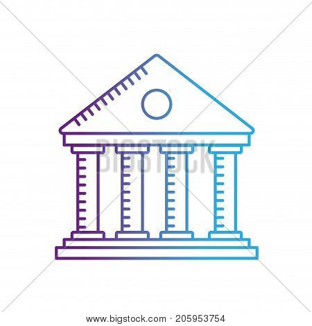line bank to economy and financial account vector illustration