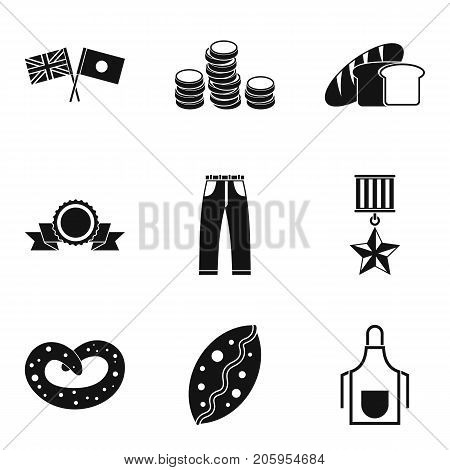 Church donation icons set. Simple set of 9 church donation vector icons for web isolated on white background
