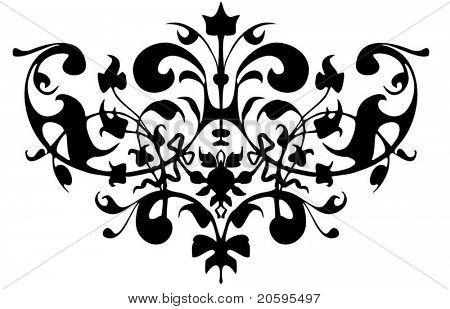 Vector vignette ornament.