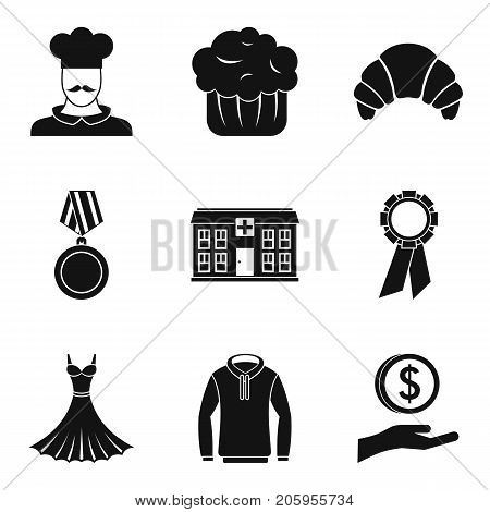 Offertory icons set. Simple set of 9 offertory vector icons for web isolated on white background