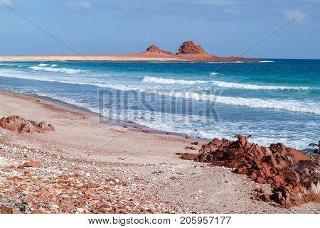 The Beach Of Dihamri On Socotra Island