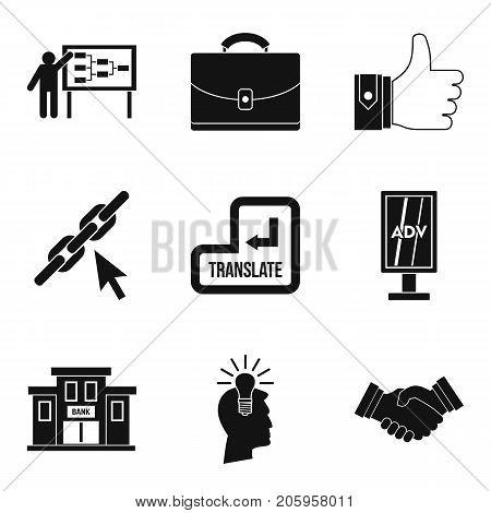 International trade icons set. Simple set of 9 international trade vector icons for web isolated on white background