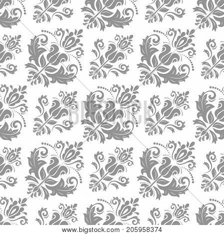 Classic seamless vector silver pattern. Traditional orient ornament. Classic vintage background