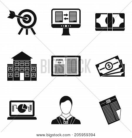 Resolution icons set. Simple set of 9 resolution vector icons for web isolated on white background