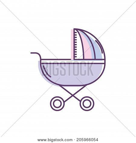 baby stroller tool to baby relax vector illustration