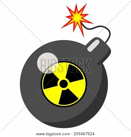 atomic bomb isolated on a white background. Vector Illustration