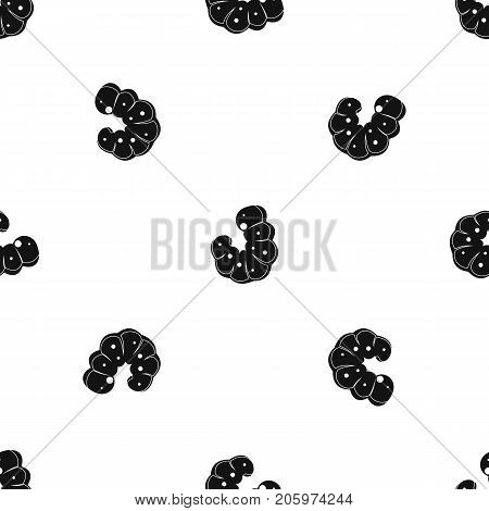 Worm pattern repeat seamless in black color for any design. Vector geometric illustration