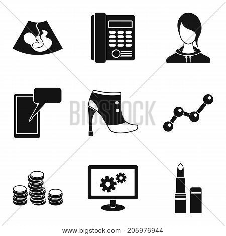 Ideal business icons set. Simple set of 9 ideal business vector icons for web isolated on white background