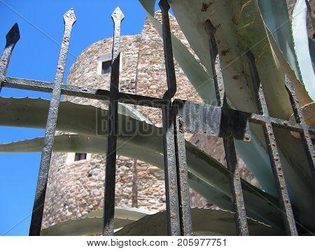Fortress in Chora town Naxos Island Cyclades Greece